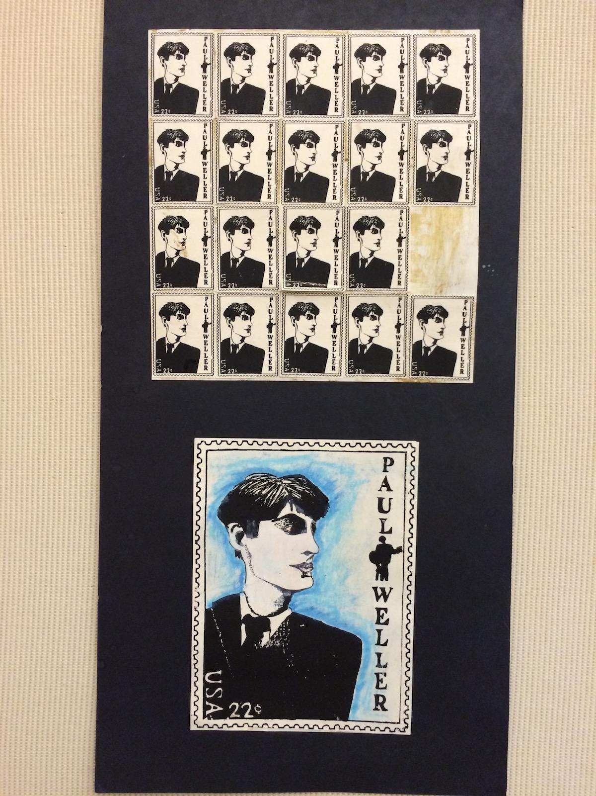 paul weller stamp art